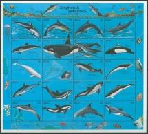Palau 1991 Delphine Zusammendruckbogen 444/63 ZD-Bogen Postfrisch (SG11143) - Palau