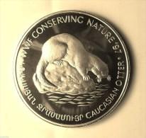 """@Y@    ARMENIA 100 DRAM 1997 SILVER PROOF """"CAUCASIAN OTTER"""" WWF - Armenien"""
