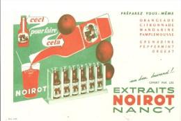 Buvard NOIROT Extraits Végétaux T. NOIROT Ceci Vous Pouvez Faire Cela Préparez Vous-même - Limonades
