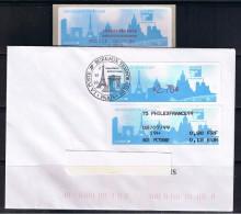 ATM, PROTOTYPE LISA MONETEL, PAIEMENT PAR CARTE MODEUS, 2.70, Avec Son Reçu 1er Jour 2/07/1999, PHILEXFRANCE 99 - 1999-2009 Vignettes Illustrées