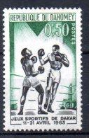 BENIN - DAHOMEY - JEUX SPORTIFS DE DAKAR 1963 - BOXE - 0f50 - 1963 - - Bénin – Dahomey (1960-...)