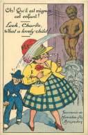 BRUXELLES - Souvenir De Manneken-Pis - Oh ! Qu'il Est Mignon Cet Enfant ! Loor, Charlie, What A Lovely Child ! - Personnages Célèbres