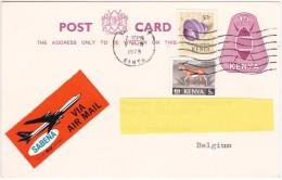 1973 - To BELGIUM  - VIA AIR MAIL - SABENA - Kenya (1963-...)