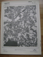 GRAND PHOTO VUE AERIENNE 66 Cm X 48 Cm De 1979 ENGHIEN MARCQ - Cartes Topographiques