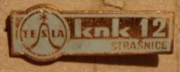 Nikola TESLA Company Czechoslovakia Electronic Industry Strasnice Pin Badge - Marcas Registradas