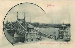 BUDAPEST. FERENCZ JOZSEF LANCZHID - IL PONTE FRANZ JOSEF. BELLA CARTOLINA NON VIAGGIATA PRIMI '900 - IMMAGINE IN RILIEVO - Ungheria