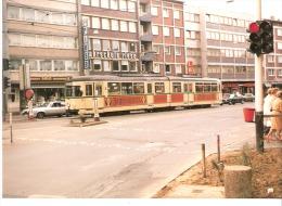 Photo-Foto Tram Strassenbahn Tramway Linie 30- Bochum? Jagermeister-Fahrschule Reise-dim. 12,3x8,8cm - Eisenbahnen