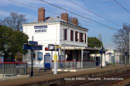 Gare De Villiers - Neauphle - Pontchartrain , Yvelines - Une Photo Reproduit Carte Postale  10x15 Cm. - Stations Without Trains