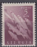 Italy Yugoslavia Trieste Zone B Porto 1950 Fish Pesci Mi#10 Sassone#10 Mint Hinged - Mint/hinged