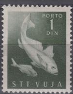 Italy Yugoslavia Trieste Zone B Porto 1950 Fish Pesci Mi#7 Sassone#7 Mint Hinged - Mint/hinged