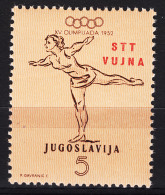 Italy Yugoslavia Trieste Zone B, Olympic Games 1952 Mi#70 Sassone#56 Mint Never Hinged - Mint/hinged