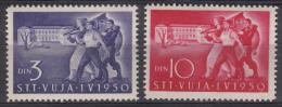 Italy Yugoslavia Trieste Zone B 1950 Mi#44-45 Sassone#31-32 Mint Hinged - Mint/hinged