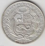 @Y@     Peru - Un Sol 1931  Silver. (item 2893 ) - Pérou