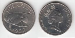 ****  BERMUDA - BERMUDES - 5 CENTS 1997 - FIVE CENTS 1997 FISH **** EN ACHAT IMMEDIAT !!! - Bermudes