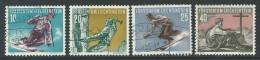 Liechtenstein, Mi 334-37 Jaar 1955, Gestempeld, Sport, Cote  36,00 Euro à 20 %, Zie Scan - Oblitérés