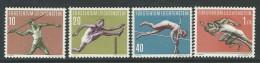 Liechtenstein, Mi 342-45 Jaar 1956, Postfris Met Scharnier (MH*), Sport, Cote  30,00 Euro à 20 %, Zie Scan - Liechtenstein