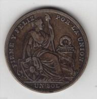 @Y@     Peru - Un Sol 1925  Silver. (item 2891 ) - Perú