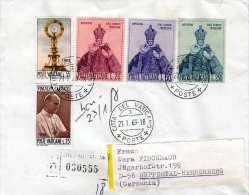 VATICAN Brief Mit Schöner 5 Fach Frankierung Gel.1969 V. Vatican > Wuppertal-Hahnerberg - Vatikan