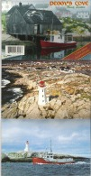 14 View Deluxe Accordian Folder Of Peggy's Cove, Nova Scotia - Géographie