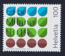 "2015 SVIZZERA ""EXPO 2015 MILANO"" SINGOLO MNH - Nuovi"