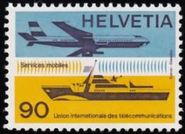 SWITZERLAND - Scott #10O12 Airplane, Ocean Liner / Mint NH Stamp - Officials
