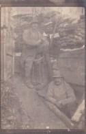 PHOTO: LES TRANCHEES Guerre 1914/1916.  9 CM X 6CM. Photo En Papier Fin - Photographie