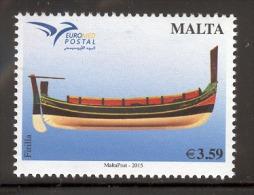MALTA 2015 EuroMed Boats Of The Mediterranean No. 1544  MNH - Barcos