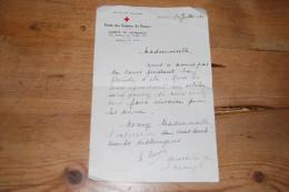 Courrier Envoyé Par La Directrice De L'Union Des Femmes De France, Comité De Marseille, Avenue Du Prado, 30/07/1940 - Documents Historiques