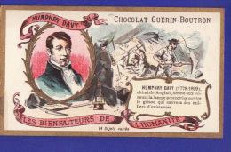 """Humphry Davy CHIMISTE  Service Des Mineurs """" Les Bienfaiteurs ...chromos Chocolat Guerin Boutron ( Très Très Bon état) E - Guerin Boutron"""