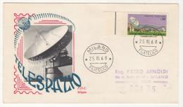 ITALY TELESPAZIO 1968 FIRST DAY COVER - 6. 1946-.. Republic