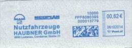 Werbestempel Freistempel Haubner Nutzfahrzeuge MAN Neoplan Lustenau Dornbirn - Poststempel - Freistempel