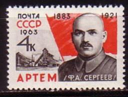 RUSSIA  RUSSIE - 1963 - 80ans De La Naissance D'Artem - 1v** - 1923-1991 URSS