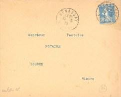 """Cachet Manuel De """"Benassay - Vienne"""" En Date Du 22/09/25. - Storia Postale"""