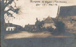 Foto-AK 1.WW / I.R. 96 (Thüringen) - Zerschossene Kirche Von Pimprez B. Bailly / Noyon  / Département Oise  1916 - Oorlog 1914-18