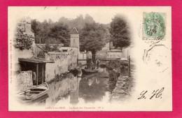 77 SEINE-et-MARNE CRECY-en-BRIE, Le Quai Des Tanneries Sur Le Grand Morin, Animée, 1903, Précurseur, (Vve E. Gruot, Cré - Francia