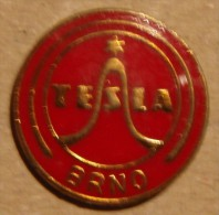 Nikola TESLA Company Czechoslovakia Electronic Industry Brno Pin Badge - Marcas Registradas