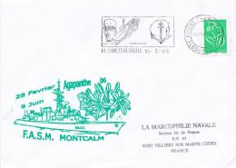 FASM  MONTCALM  AGAPANTHE 06 FLAMME ET CACHET PA CHARLES DE GAULLE 15/3/06 - Marcophilie (Lettres)