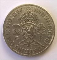 Monnaie - Grande-Bretagne - 2 Shilling 1940 - Argent - - 1902-1971 : Monnaies Post-Victoriennes