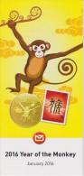 New Zealand 2016 Brochure About Year Of The Monkey - Lunar Year - Nueva Zelanda