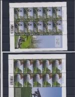 Belgie -Belgique 3794/96 Velletjes Van 10 Postfris - Feuillets De 10 Timbres Neufs  -  Beeldentuinen - Feuilles Complètes