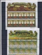 Belgie - Belgique 3550/51 Velletjes Van 10 Postfris - Feuillets De 10 Timbres Neufs  -  De Hanze - Feuilles Complètes