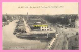 CPA  RENNES  Les Quais De La Prevalaye Et De St Cyr, Le Mail - Rennes