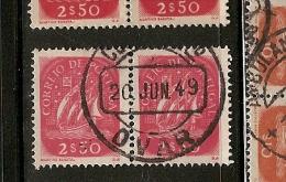 Portugal & Marcofilia, Caravela, Ovar  1949 (627) - 1910 - ... Repubblica