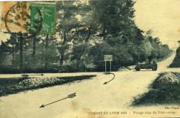 MORNANT - Circuit De Lyon 1924 Virage Aigu Du Pont Rompu Véhicule De La Course - Autres Communes