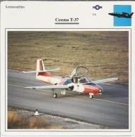 Vliegtuigen.- Lesvliegtuig. Lestoestel. Cessna T-37 - 2 Scans - Vervoer