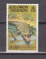 Solomon Islands 1982,1V,crocodile,krokodil,cocodrilo,coccodrillo,,MNH/Postfris(A2263) - Reptielen & Amfibieën