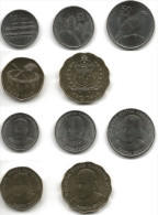 Samoa Exotic Oceania 5 Coin Set 10 20 50 Sene + 1 2 Tala New Complete 2011 UNC - Samoa