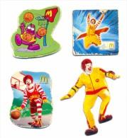 Russia McDonald's 4pcs Torino 2006 ,clown,basketball - Animals & Fauna