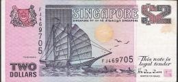 SINGAPORE  P28  2  DOLLARS  1992    VF - Singapour