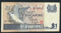 SINGAPORE  P9  1  DOLLARS  1976    VF - Singapour